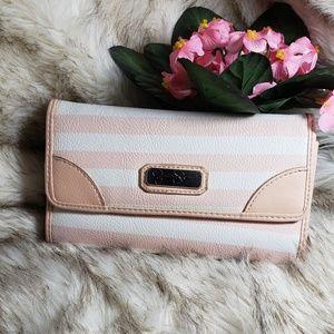 Jessica Simpson Pink & White Wallet